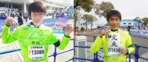 横浜マラソン(フル)2年連続完走☆左2015 右2016